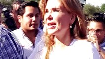 Recorre Gobernadora Claudia Pavlovich zonas afectadas de Guaymas, Empalme y Víc