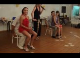 Balloon contest at Russian wedding