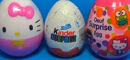 3 surprise eggs! HELLO KITTY surprise egg Kinder Surprise egg Oeuf surprise egg! [Full Episode]