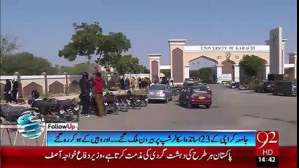 23 scholarship teachers of Karachi University went abroad and didnot return back- 18-10-2015