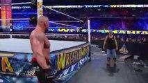 WWE Wrestlemania - Brock Lesnar Vs Triple H No Holds Bared FULL MATCH