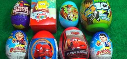 1 of 8 Surprise Eggs Surprise Egg Disney Pixar Cars! Toy Guido and stickers Lightning McQueen Sally! [Full Episode]