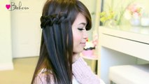 Knotted Loop Waterfall Braid Hairstyle Hair Tutorial