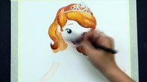 SPEED DRAWING SOFIA the FIRST Disney Junior Watercolor Painting