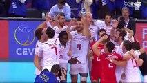 L'incroyable balle de match d'Earvin Ngapeth qui donne le titre à la France - volley championnat d'europe