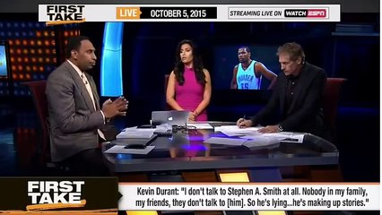 Kevin Durant Calls Stephen A. Out On his Credibility!  -  ESPN First Take