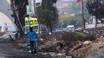 Palestinos protestan sin descanso contra israelíes