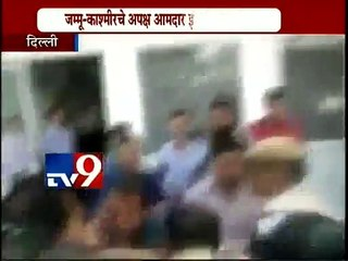 'INK ATTACK' on J&K MLA Engineer Rashid who had hosted a 'beef party' -TV9