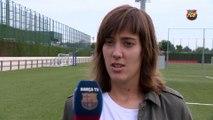 FCB Femení: Marta Unzué: 'Jugar la vuelta en casa será una ventaja contra el Twente'