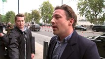Jamie Oliver arrives to give evidence at health committee