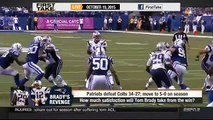 ESPN First Take Today (10 19 2015) - Tom Brady throws 3 TDs as Patriots beat Colts, 34-27