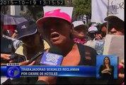 Incidentes y agresiones en protesta convocada por trabajadoras sexuales