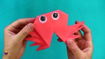 Origami: crab. How to make a paper crab. Educational videos and tutorials.