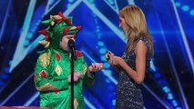 Piff the Magic Dragon- Heidi Klum Helps Comedic Magician in Dragon Suit - America's Got Talent 2015