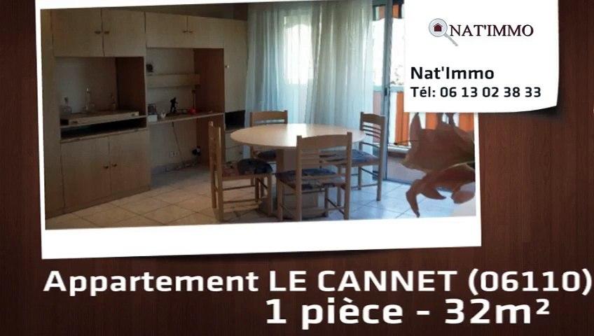 LE CANNET - lLe CANNET : Spacieux F1 32 m²  - Parking et cave