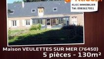 A vendre - VEULETTES SUR MER (76450) - 5 pièces - 130m²