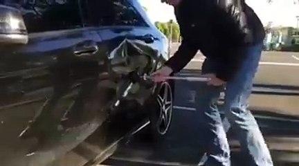 Cette ventouse permet de redresser le pare-choc de voiture !