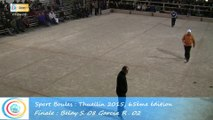 Mène 7, Finale S. Belay contre R. Garcia, Sport Boules, Thuellin 2015