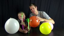 Light Show with Balloon Drums!! Glow sticks!!