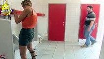 Funny Video Of A Hot Girl Peeing In Mens Toilet Bathroom Prank