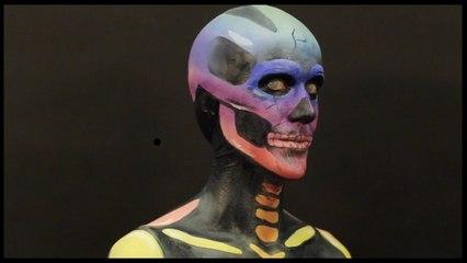 Série Halloween - Squelette aux couleurs POP (ft. Adantko)