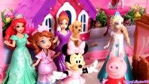 Minnie Mouse SLEEPOVER Slumber Party with Princess Anna & Elsa Disney Frozen El Reino del