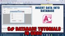 P(3) - C# Access Database Tutorials In Urdu - Insert Data Into Database