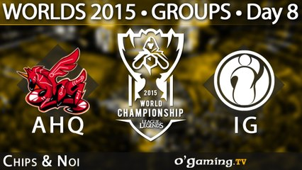 ahq e-Sports Club vs Invictus Gaming - World Championship 2015 - Phase de groupes - 11/10/15 Game 1