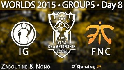 Invictus Gaming vs Fnatic - World Championship 2015 - Phase de groupes - 11/10/15 Game 4