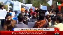 Sikh protest against Indian in Pakistan over Modi Sarkars atrocities on Indian minorities