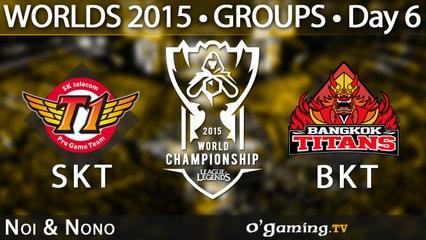 SKT T1 vs Bangkok Titans - World Championship 2015 - Phase de groupes - 09/10/15 Game 6