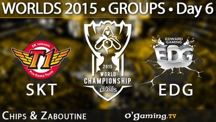 SKT T1 vs Edward Gaming - World Championship 2015 - Phase de groupes - 09/10/15 Game 1