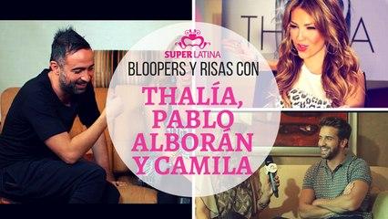 Entrevista a Thalía, Camila y Pablo Alborán, CRÉDITOS y BLOOPERS, Gaby Natale – Superlatina