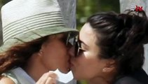 Yolanda Andrade besando a su novia
