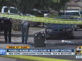 Police find possible murder weapon in Gilbert shooting
