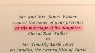 How To Write Wedding Invitations With Bride's Stepfather As Host