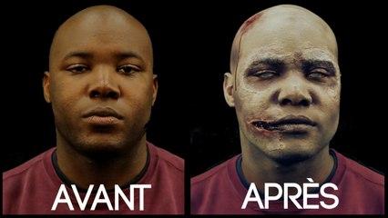 Série Halloween - Zombie sur peau noire