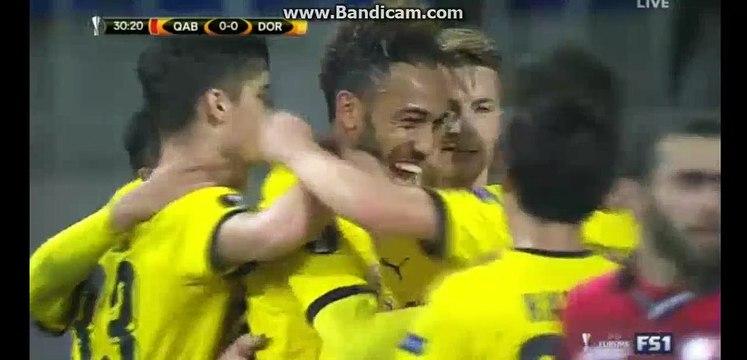 Pierre Aubameyang GOAL - Qabala 0-1 Borussia Dortmund - 22.10.2015