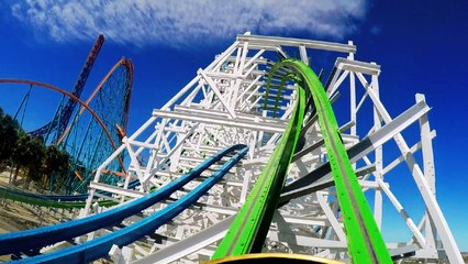 Twisted Colossus front seat on-ride HD POV @60fps Six Flags Magic Mountain
