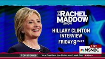 THE RACHEL MADDOW SHOW 10/21/15 Hillary Clinton interview her first after 2 epic political events