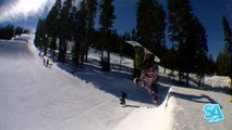 How to do Miller Flips on a snowboard (Goofy) Handplants Snowboard Addiction Free Section