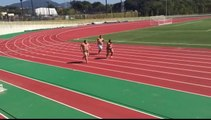 Sumo Wrestlers Face Off in Track Race Running