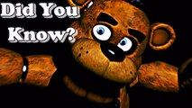 Facts About Five Nights at Freddys   Did You Know