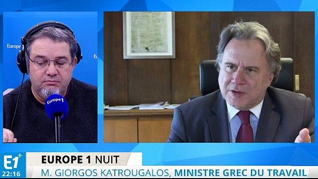 """Katrougalos : """"Nous ne pensons pas que l'austérité soit une bonne solution pour l'Europe"""""""