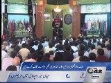 Allama Asad Johri addressing 9th Muharram-ul-Haram's Majlis in Gulistan e Zahra abbot road