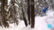 How to Snowboard in trees & gladed runs Snowboard Tricks