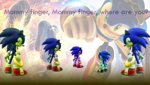 Sonic The Hedgehog Finger Family Song Daddy Finger Nursery Rhymes Power Ring Full animated