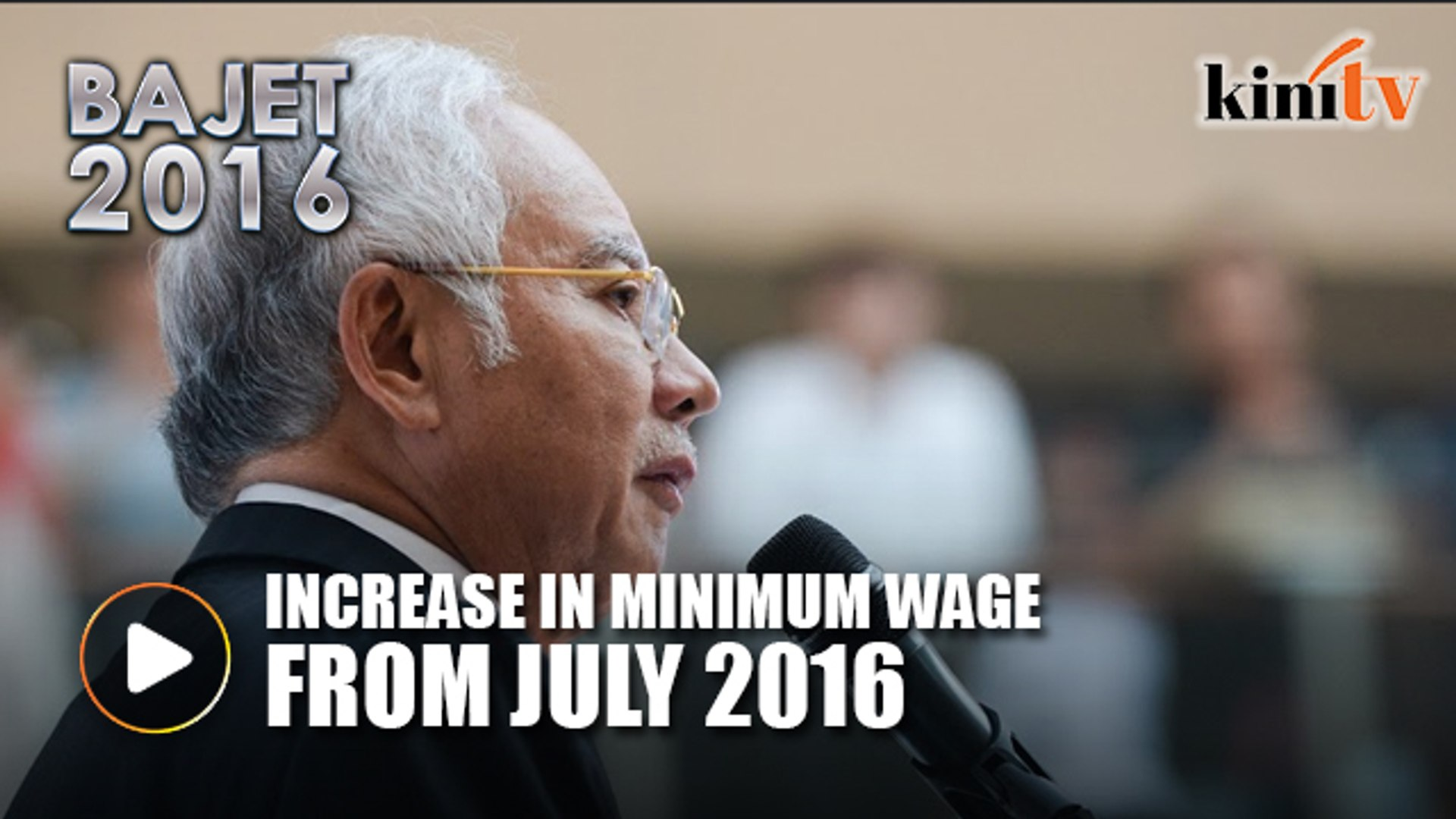 Minimum wage to increase from July 2016