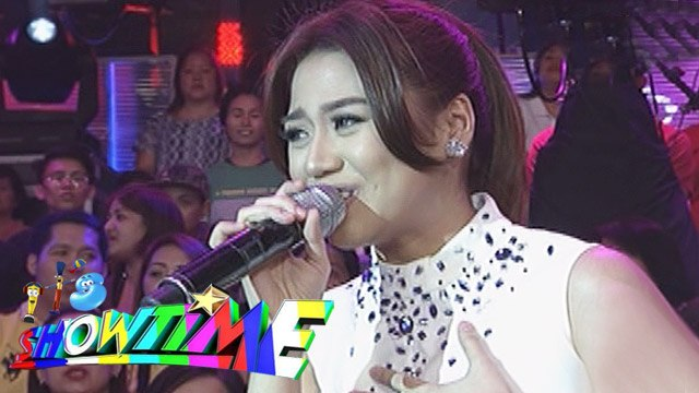 """It's Showtime: Morisette sings """"Nothing's Gonna Stop Us Now"""""""