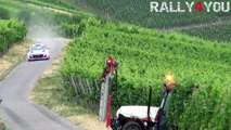 Neuville almost crash with a tractor - Rally Deutschland Test 2015 [HD]